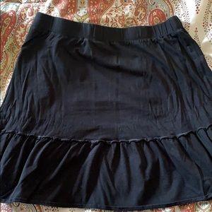 Loft black skirt size large